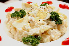 Delicious and healthy potato salad Royalty Free Stock Image