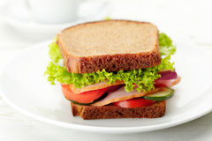 Delicious and healthy sandwich Stock Images
