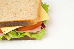 A delicious and healthy sandwich Stock Image