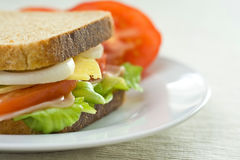 A delicious and healthy sandwich Royalty Free Stock Image