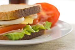 A delicious and healthy sandwich Royalty Free Stock Photos