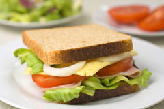 A delicious and healthy sandwich Stock Images