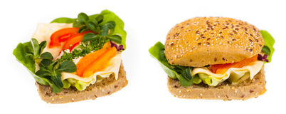 Delicious and healthy sandwich Royalty Free Stock Photos