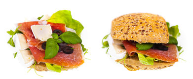 Delicious and healthy sandwich Stock Photos