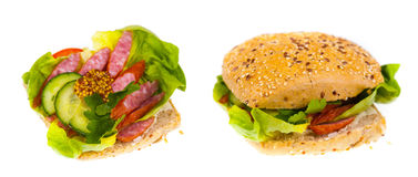Delicious and healthy sandwich Royalty Free Stock Images