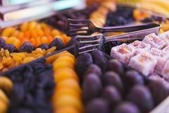 Delicious and healthy snacks for guests at the event. stock image