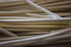 Uncooked pasta closeup royalty free stock photography