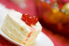 Delicious heart shaped cake Royalty Free Stock Images