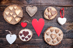 Delicious heart shaped cookies baked with love Royalty Free Stock Image