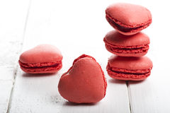 Delicious heart shaped cookies handmade Royalty Free Stock Photos