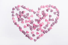 Delicious heart shaped cookies handmade Stock Photo