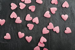 Delicious heart shaped cookies handmade Stock Images