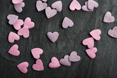 Delicious heart shaped cookies handmade Stock Image