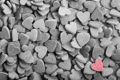 Delicious heart shaped cookies handmade Royalty Free Stock Photo