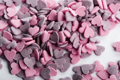 Delicious heart shaped cookies handmade Royalty Free Stock Images