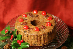 Delicious Holiday Fruitcake Royalty Free Stock Photography