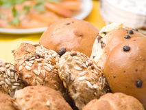 Delicious home made bread rolls Stock Images