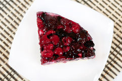 Delicious home-made cake with fresh berries Stock Images