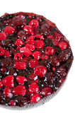 Delicious home-made cake with fresh berries Royalty Free Stock Images