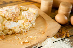 Delicious home made cake on the wooden table Royalty Free Stock Photography