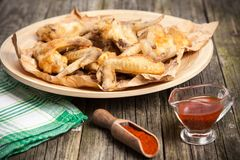 Delicious home made chicken wings Stock Images