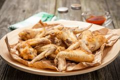 Delicious home made chicken wings Royalty Free Stock Images