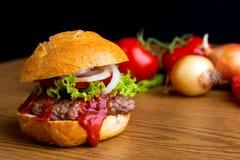 Delicious home made hamburger Stock Photography
