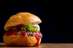 Delicious home made hamburger Royalty Free Stock Photography