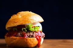 Delicious home made hamburger royalty free stock photos