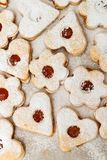 Delicious home made jam cookies. Closeup Royalty Free Stock Photos