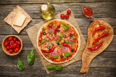 Delicious home made pizza Royalty Free Stock Photography