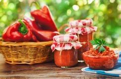 Delicious homemade Ajvar Stock Photos