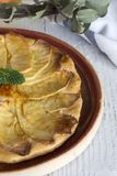 Delicious homemade apple pie. In dish Royalty Free Stock Images