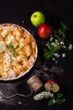 Delicious homemade apple pie. Top view Royalty Free Stock Photos