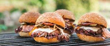 Delicious homemade burgers Stock Image