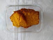 Delicious homemade carrot cake for breakfast stock photo