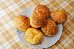 Delicious homemade cheese muffins Royalty Free Stock Photography