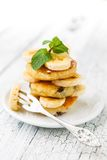 Delicious homemade cheese pancakes Stock Photo