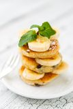Delicious homemade cheese pancakes Royalty Free Stock Photos