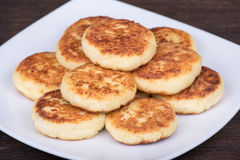 Delicious homemade cheese pancakes Royalty Free Stock Photo
