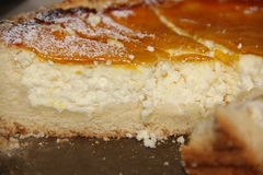Delicious homemade cheesecake. Delicious homemade cake cheesecake cut into slices Royalty Free Stock Image