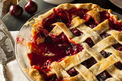 Delicious Homemade Cherry Pie Stock Photos