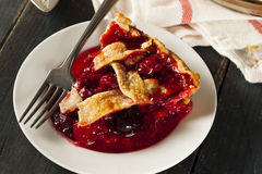 Delicious Homemade Cherry Pie Stock Photo