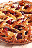Delicious homemade cherry pie. With a lattice Royalty Free Stock Image