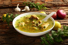 Delicious homemade chicken soup Royalty Free Stock Photography