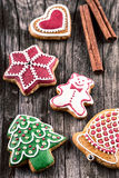 Delicious homemade Christmas gingerbread cookies Royalty Free Stock Photos