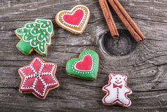 Delicious homemade Christmas gingerbread cookies Royalty Free Stock Image