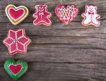 Delicious homemade Christmas gingerbread cookies Royalty Free Stock Photo