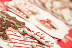 Delicious homemade christmas sweets on the plate Royalty Free Stock Photos