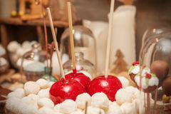 Delicious homemade christmas sweets on the plate Stock Photography